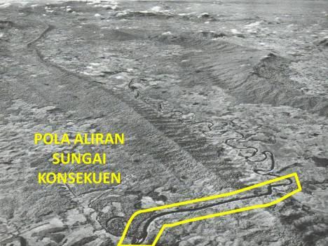 Pola Aliran Sungai Konsekuen.