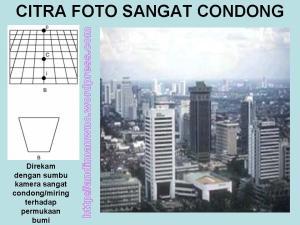 Citra Foto Sangat Condong