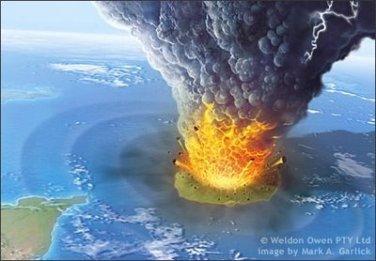 Model letusan Krakatau (1)