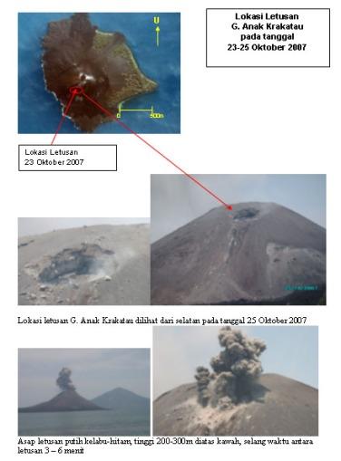 Letusan Gunung Anak Krakatau 23 - 25 Oktober 2007