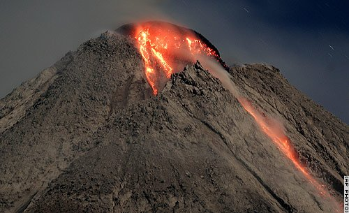 photo of Mount Merapi