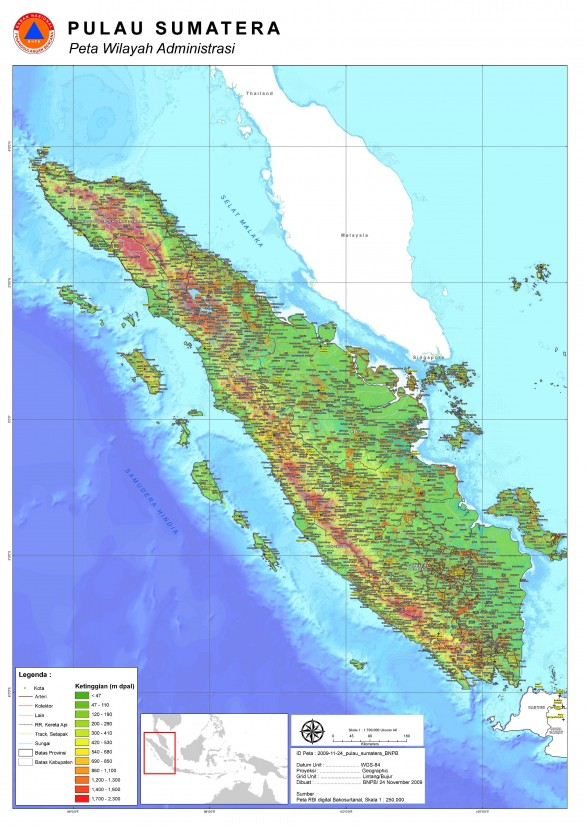 Gambar Peta Pulau Sumatera