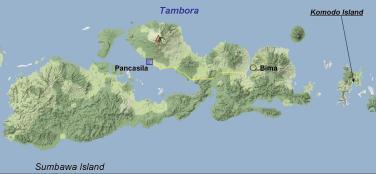 Lokasi Gunung Tambora