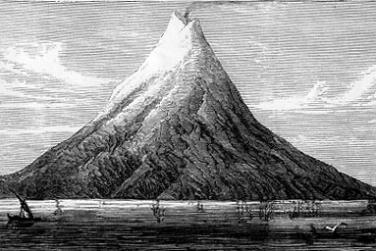 Krakatau Sebelum Meletus Hebat Dalam Lukisan