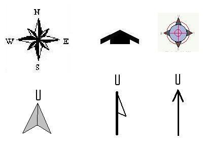 Komponen Peta Petunjuk Arah Blog Guru Geografi Man Wonosari