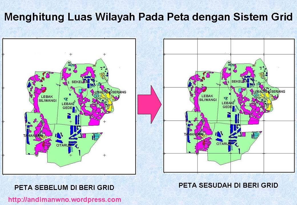 Menghitung Luas Wilayah Pada Peta Menggunakan Sistem Grid
