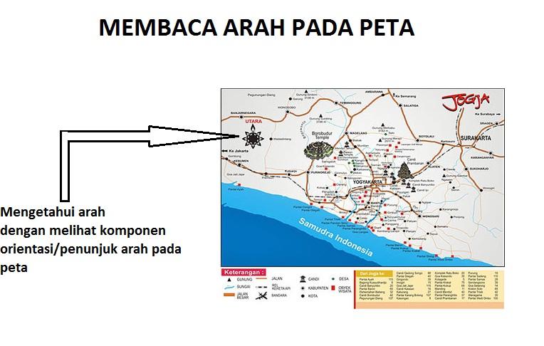 Membaca peta 1 blog guru geografi man wonosari lambang orientasipenunjuk arah pada peta umumnya berupa tanda dengan gambar 4 sudut bintang yang setiap sudutnya menginformasikan arah ccuart Image collections